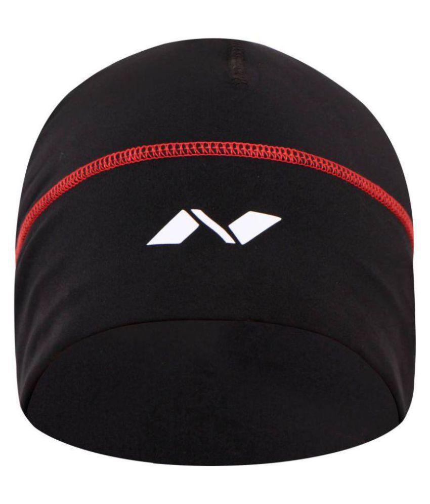 Nivia Black Plain Polyester Caps-1138