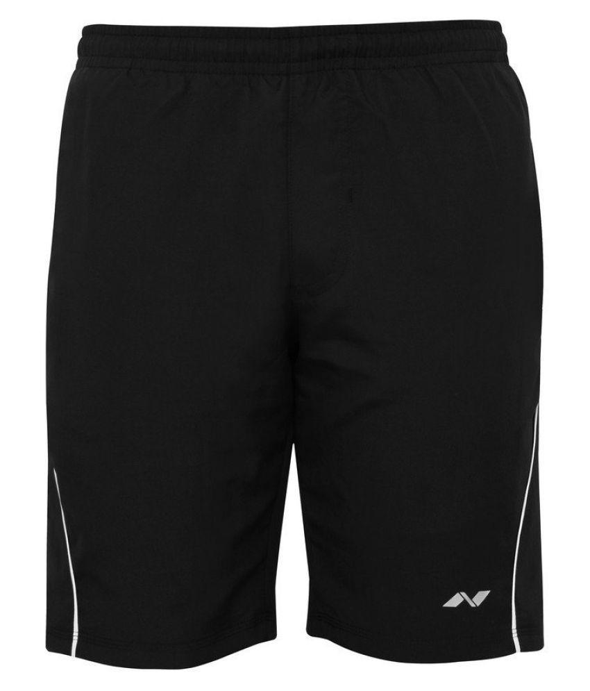 Nivia Black Polyester Running Shorts Single-2036xxl4