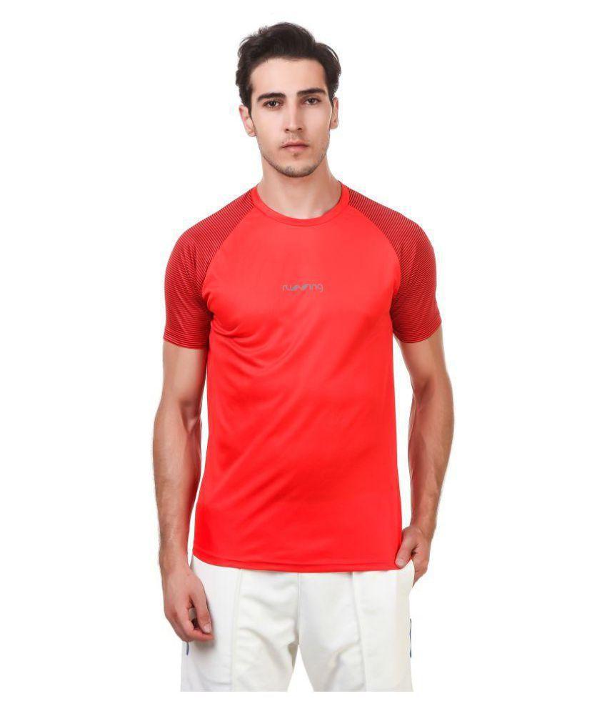 Nivia Red Polyester T-Shirt-1865XXL-2