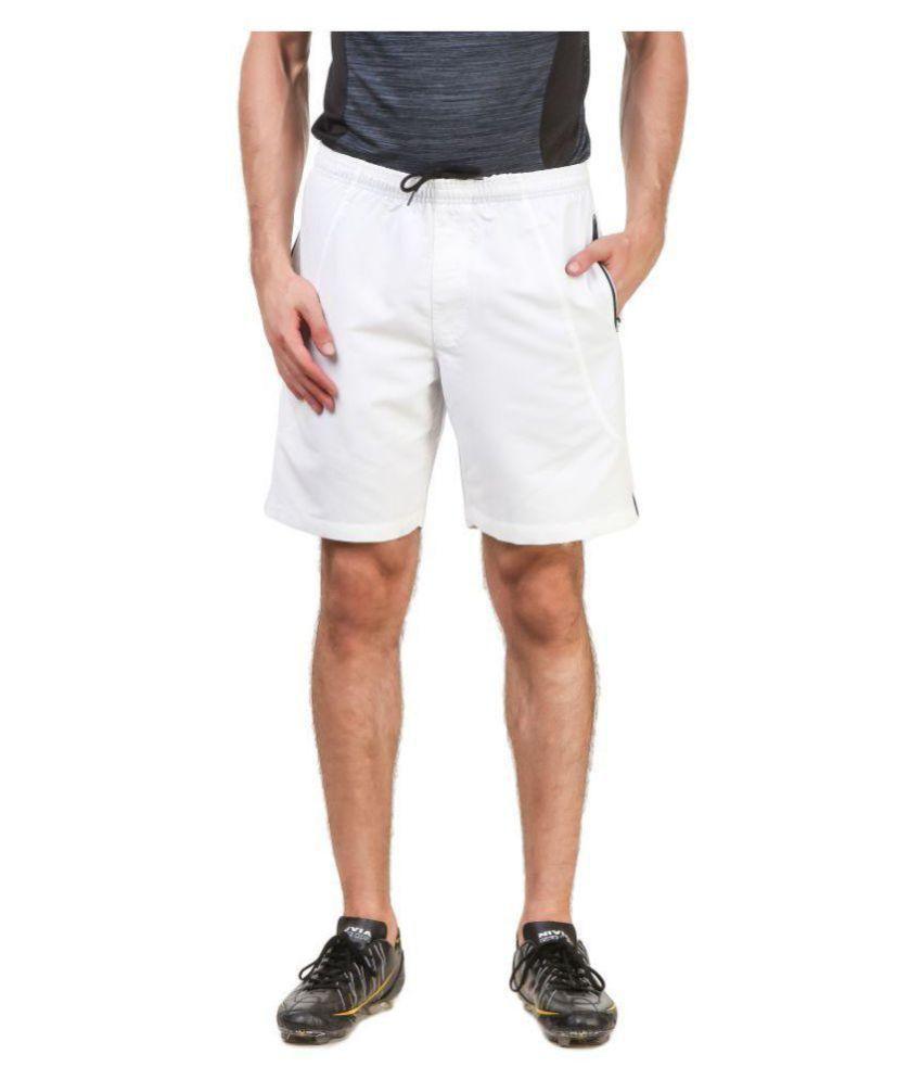 Nivia White Polyester Running Shorts-2310M-2