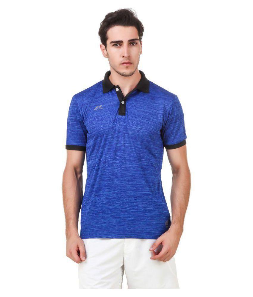 Nivia Blue Polyester T-Shirt-2245XXL-2