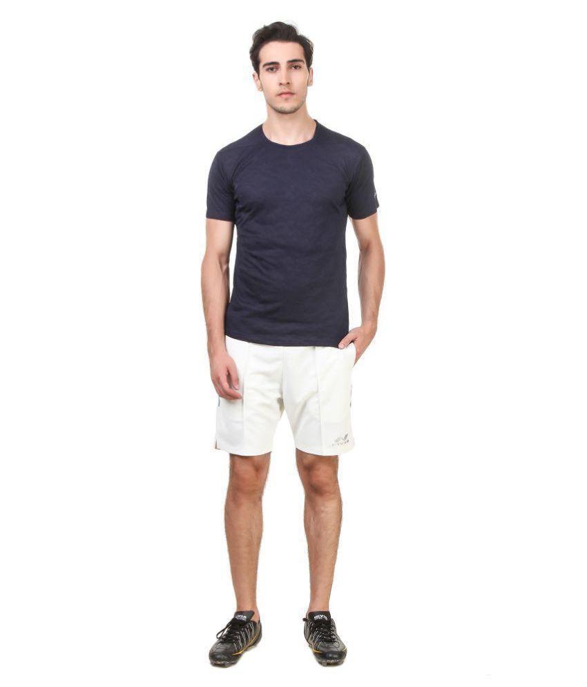 Nivia Blue Polyester T-Shirt-2234M-1