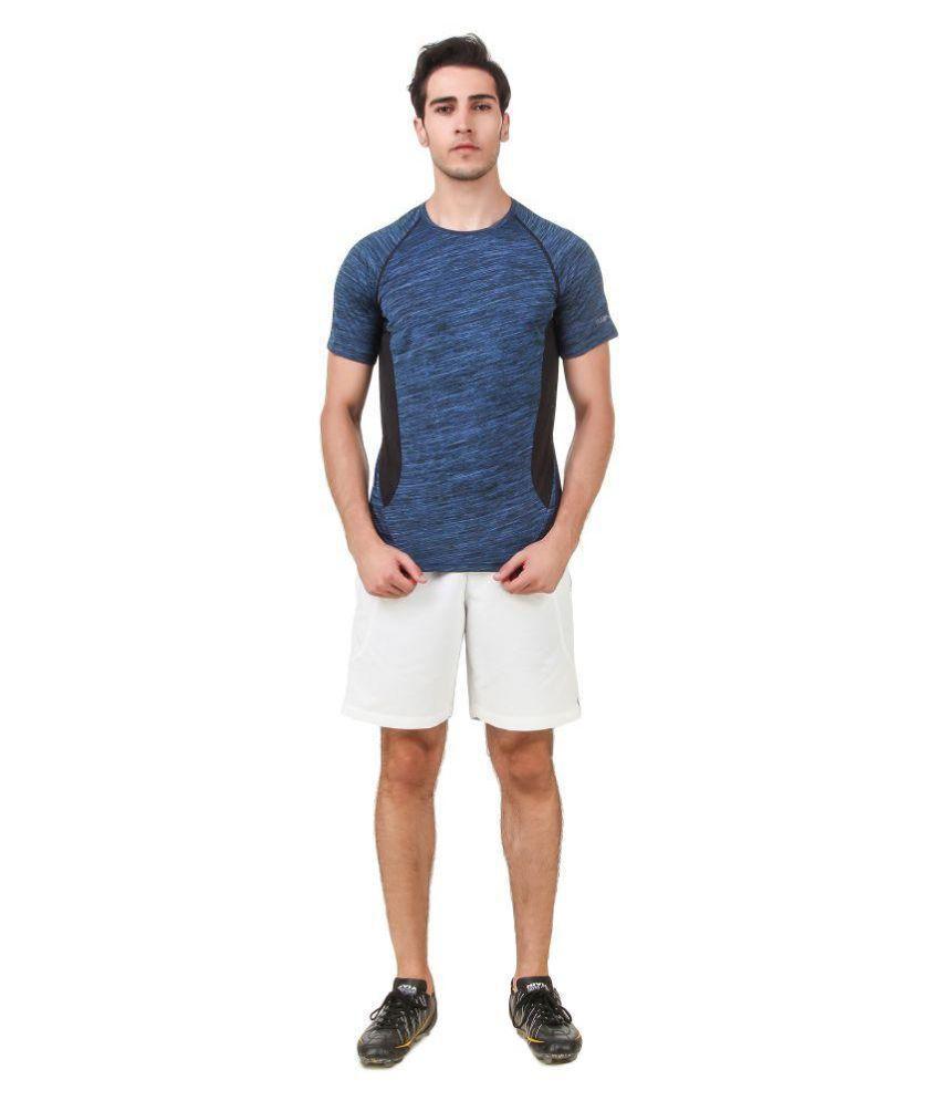 Nivia Blue Polyester T-Shirt-2246XXL-1