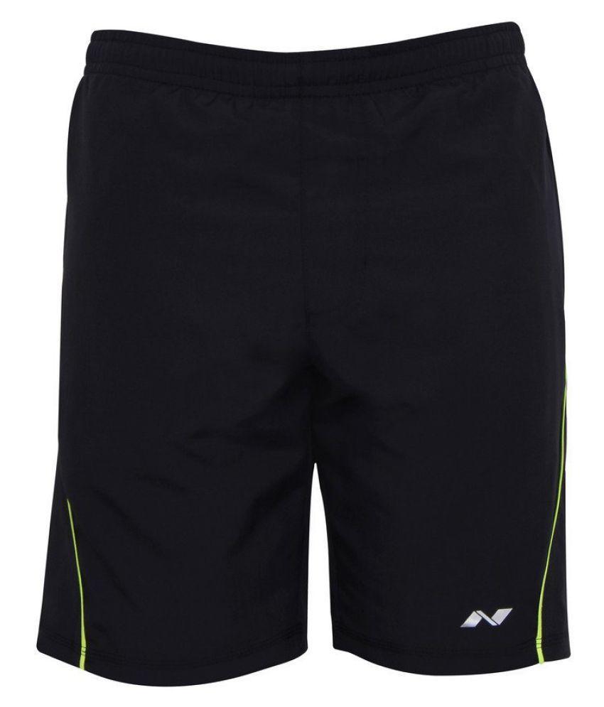Nivia Black Polyester Running Shorts Single-2036l3