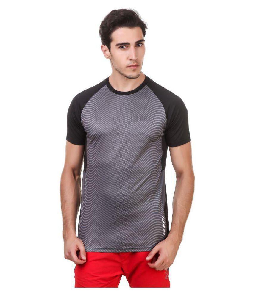 Nivia Black Polyester T-Shirt-1867M-3