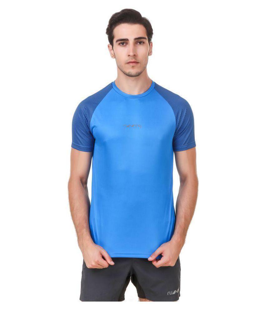 Nivia Blue Polyester T-Shirt-1865M-1