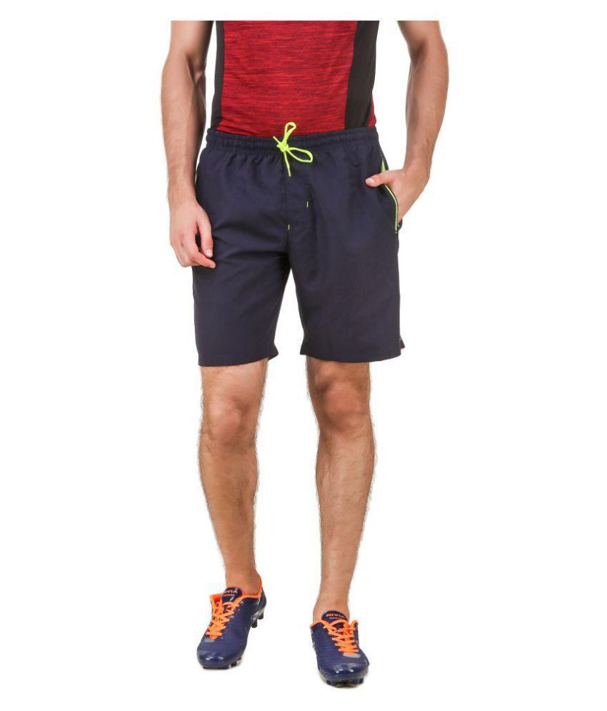Nivia Blue Polyester Running Shorts-2310S-1