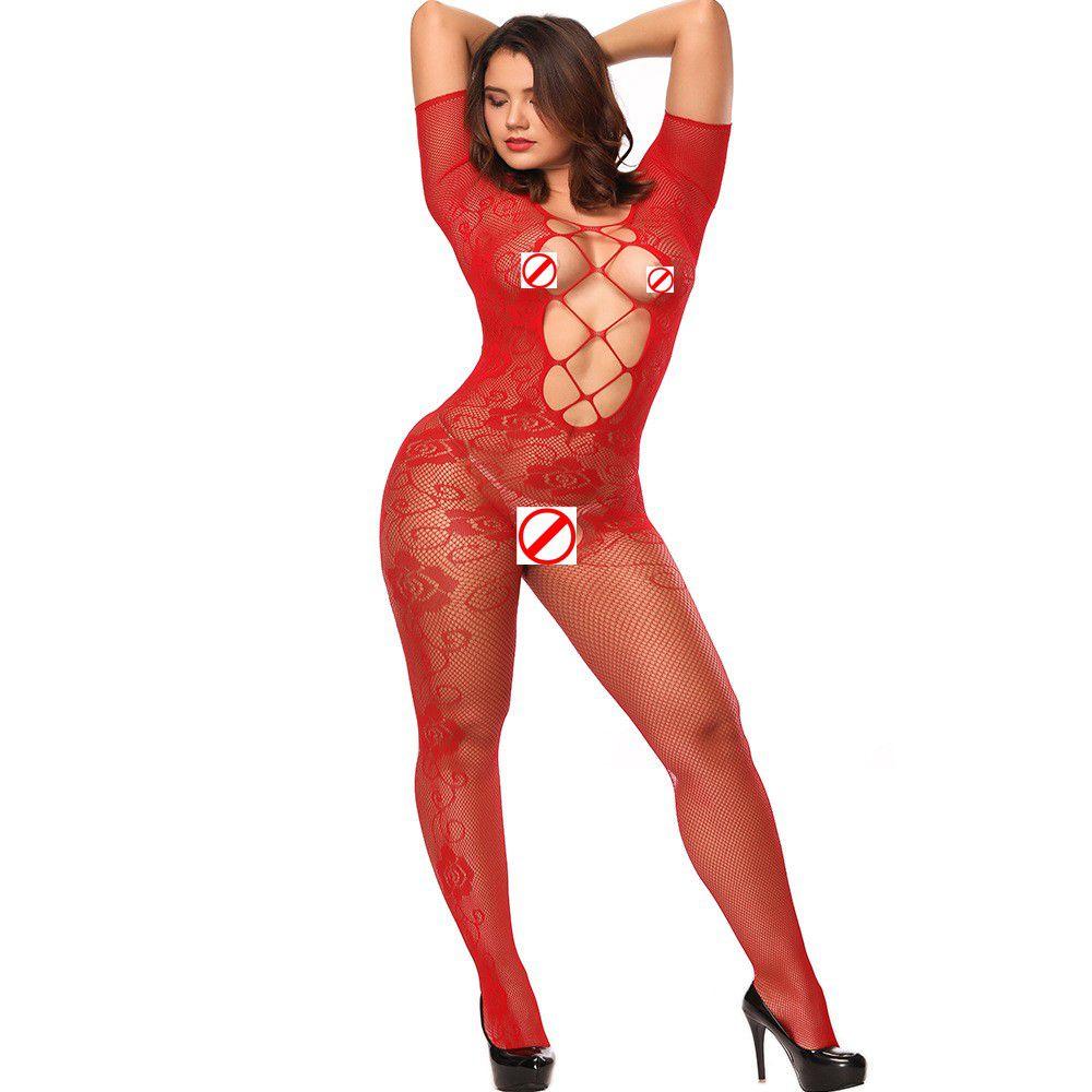 Rose pattern silk stockings