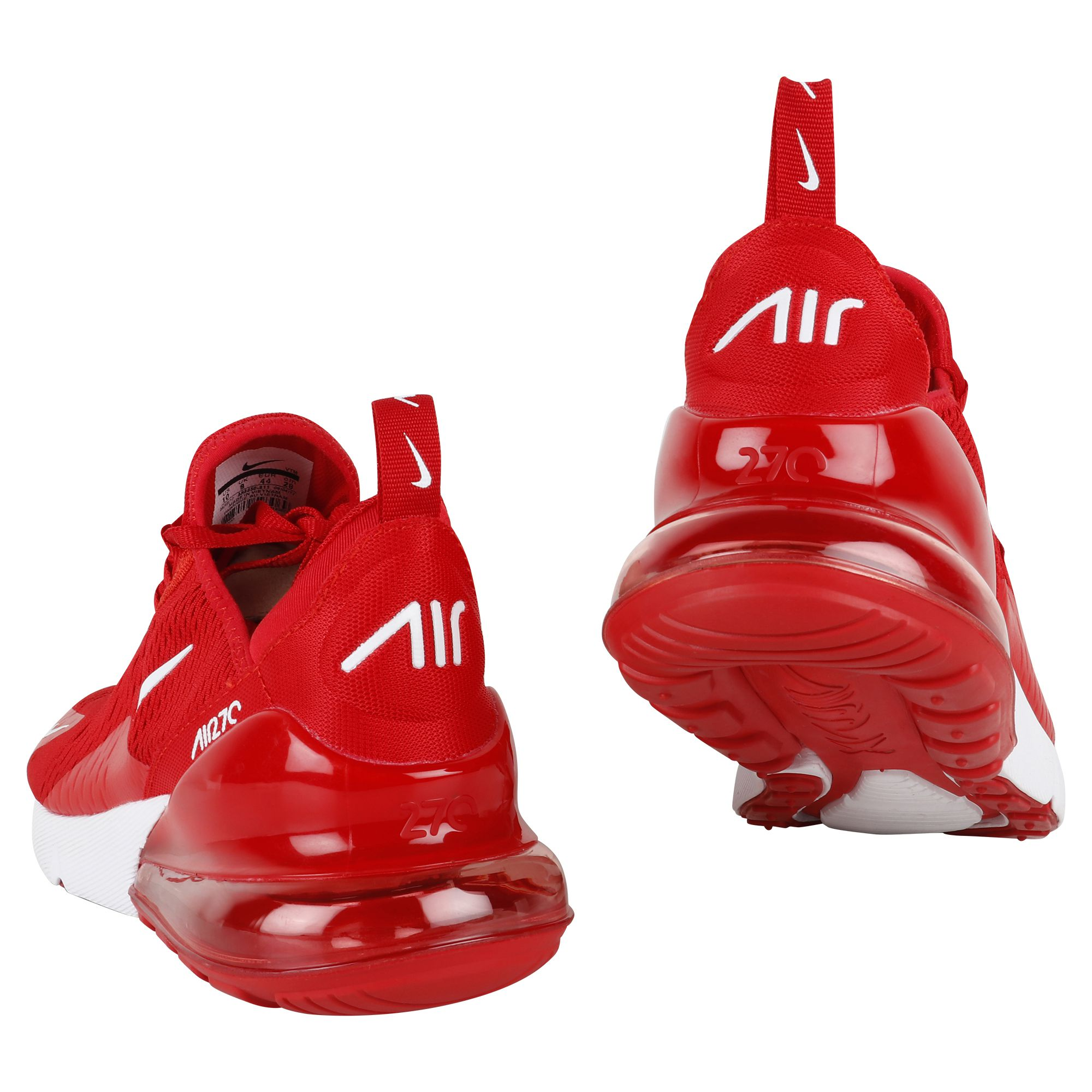 newest d40e3 29e05 ... Nike Air Max 270 Red Running Shoes ...