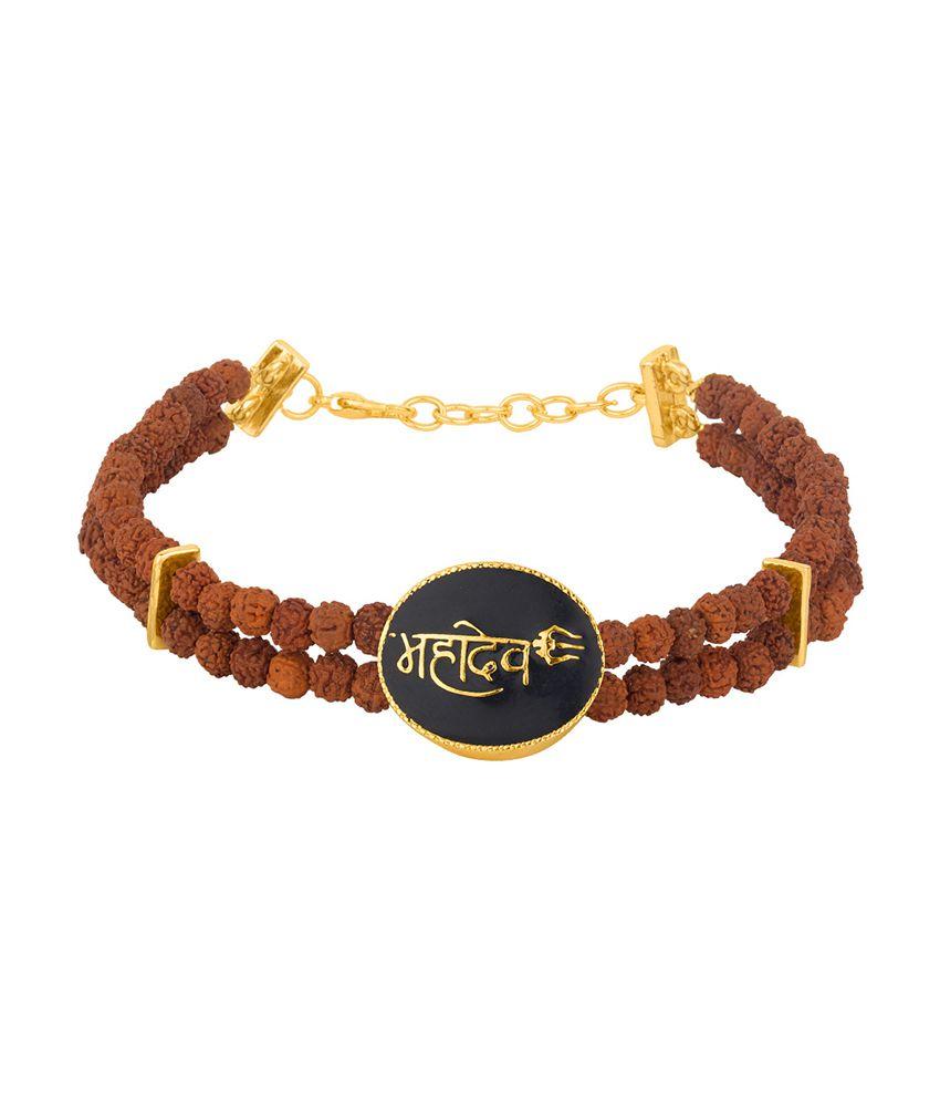 Dare Golden and Black Mahadev Bracelet for men