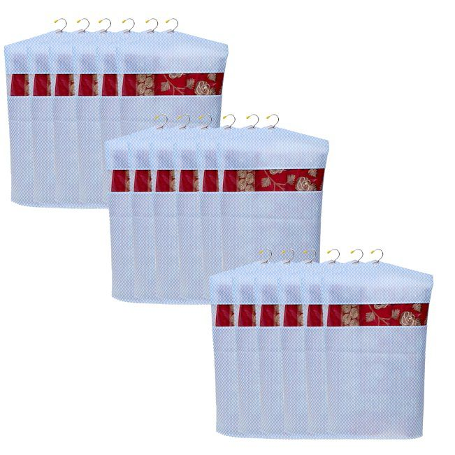 Home Store India White Saree Covers - 15 Pcs
