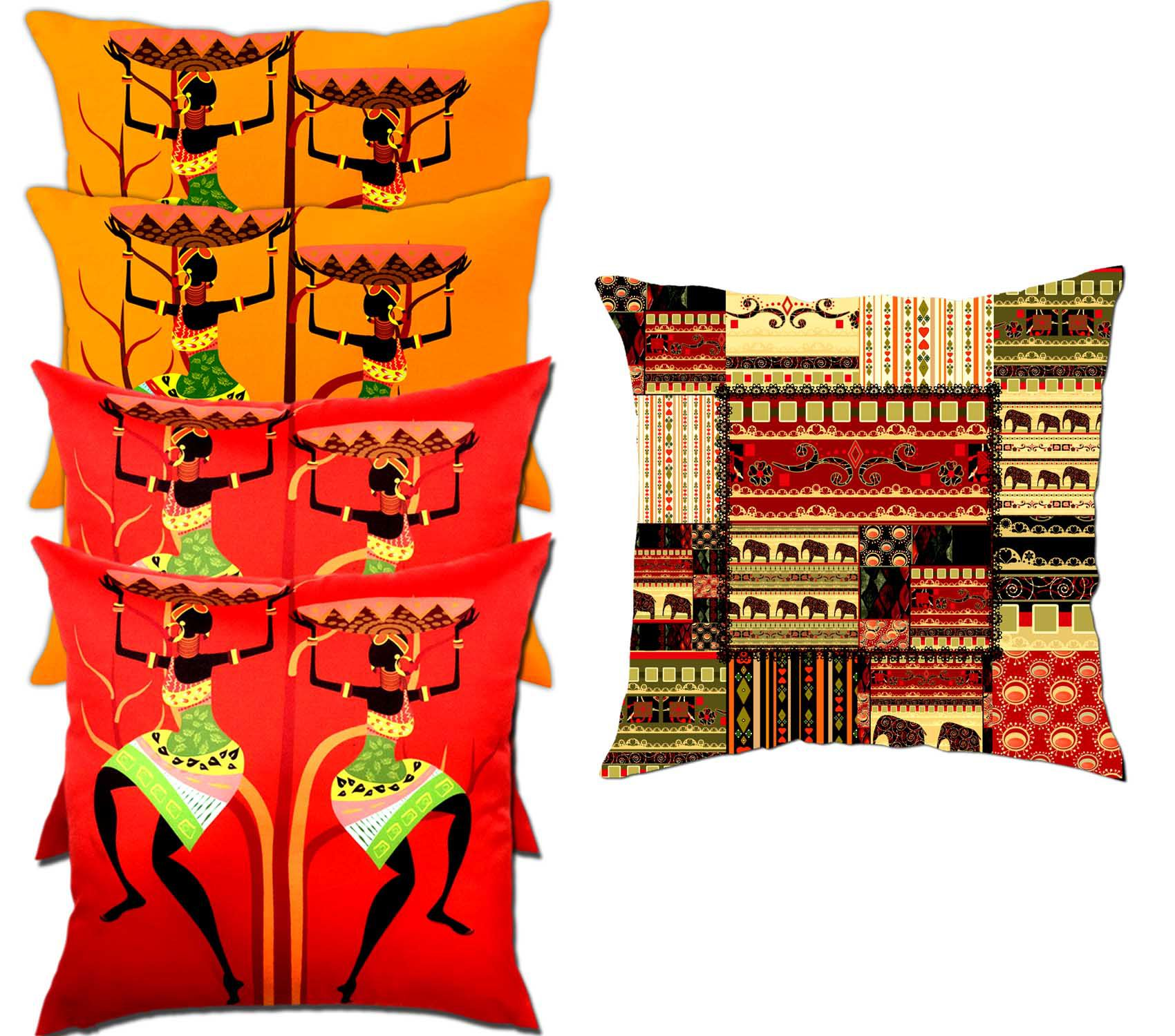 Viceroy Set of 5 Polyester Cushion Covers 40X40 cm (16X16)