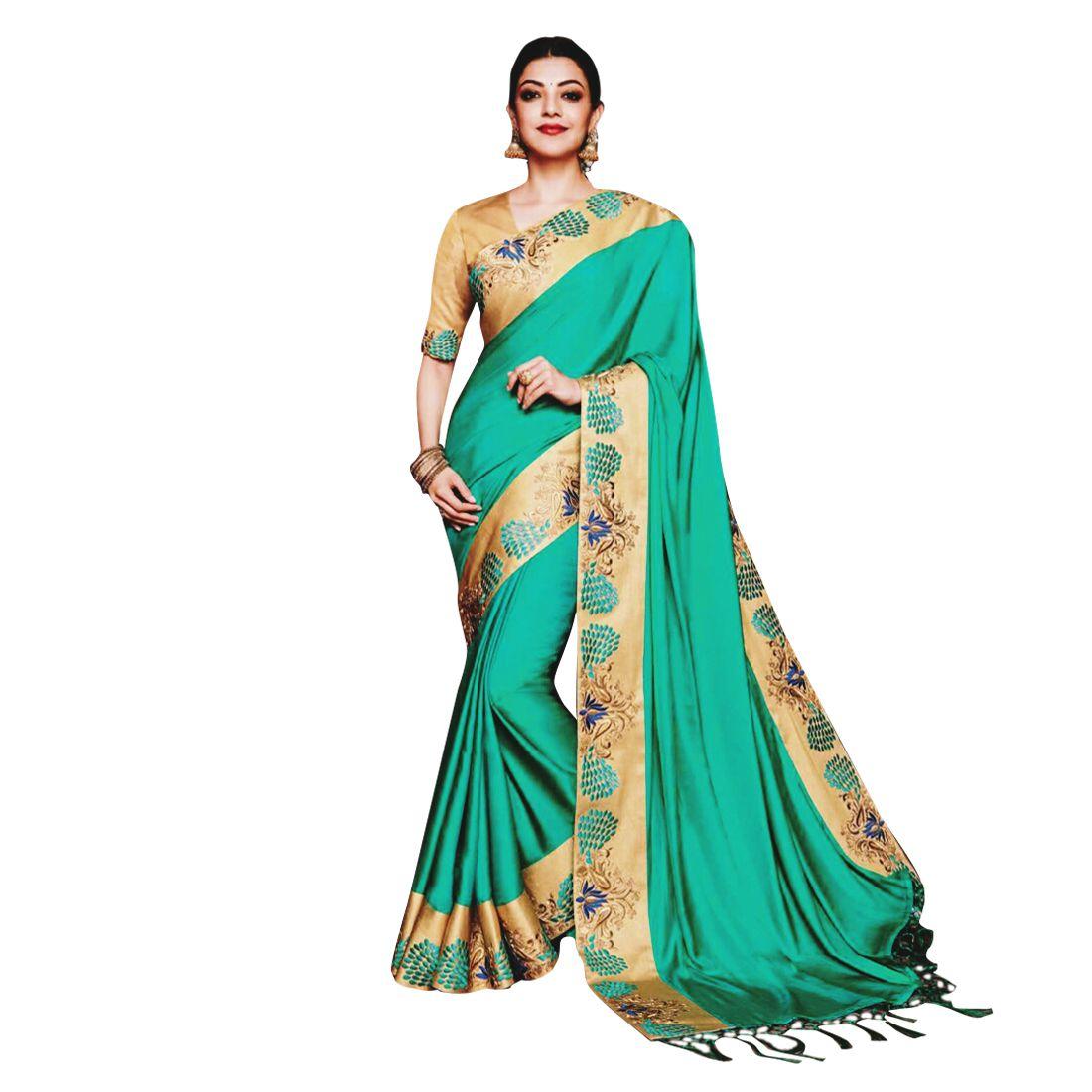 SareeA Green Paper Silk Saree