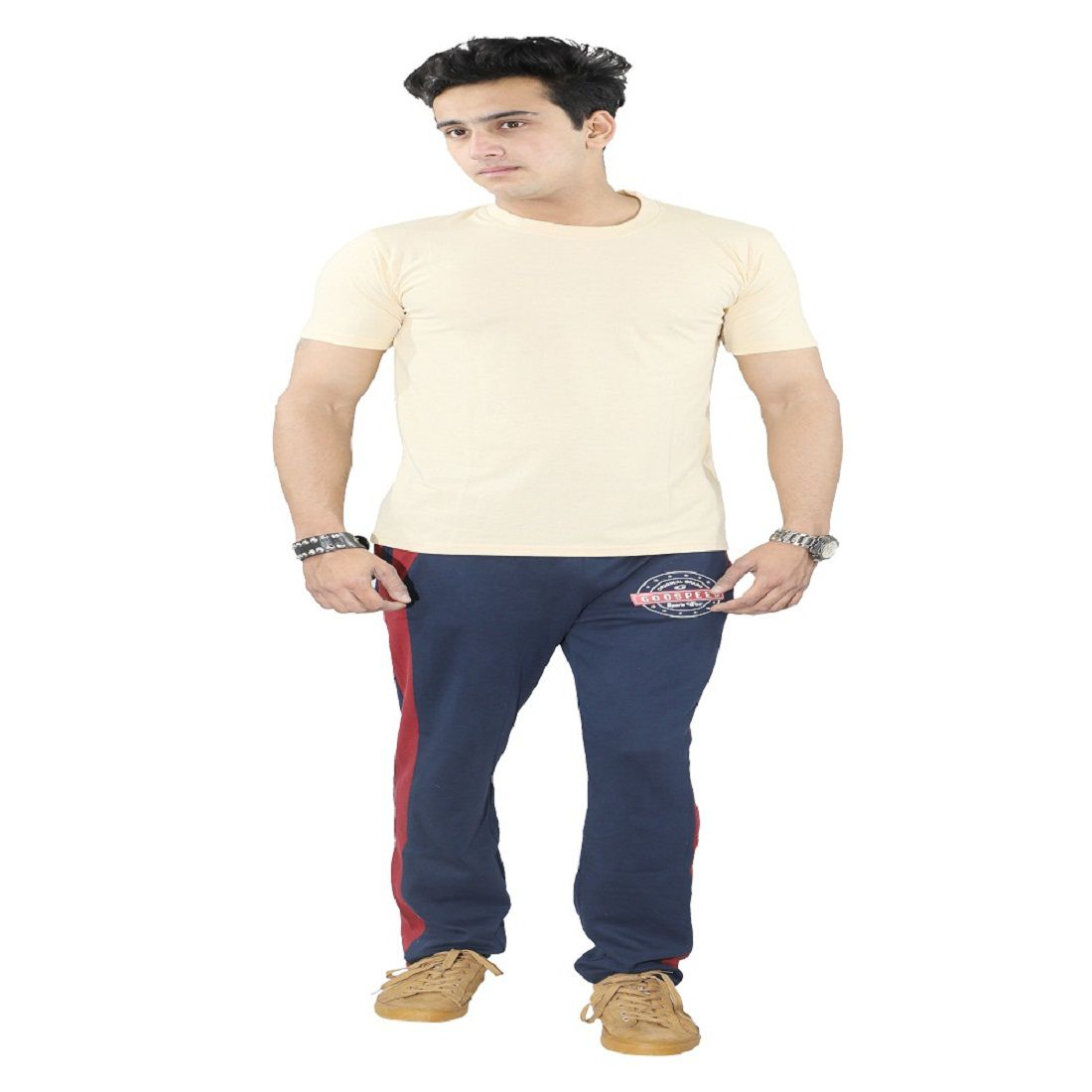 harvi.com Cream Cotton T-Shirt