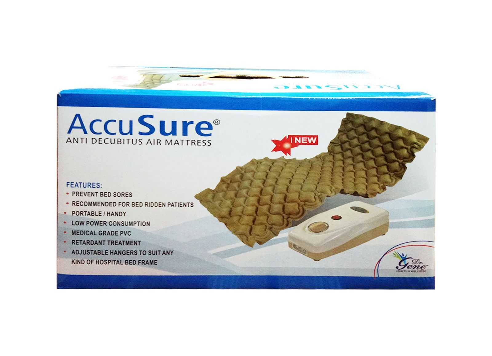 accusure air mattress with pump for preventing bed sores 8 89 cm