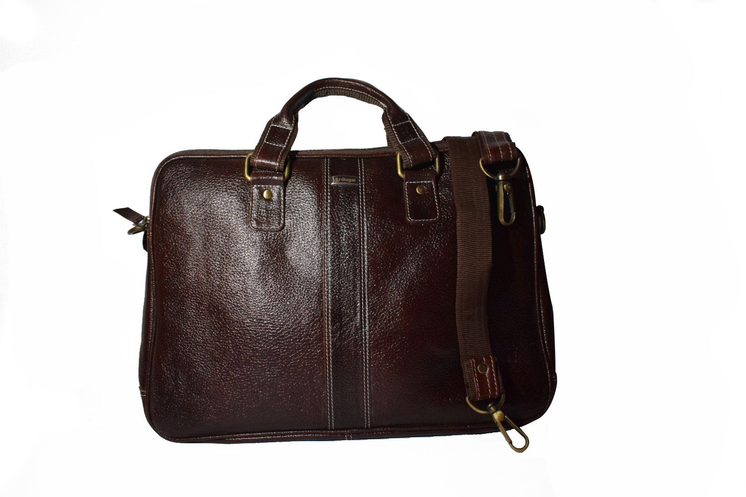 2f29b597ea62 Gugal India GI125 Brown Leather Office Bag - Buy Gugal India GI125 Brown Leather  Office Bag Online at Low Price - Snapdeal