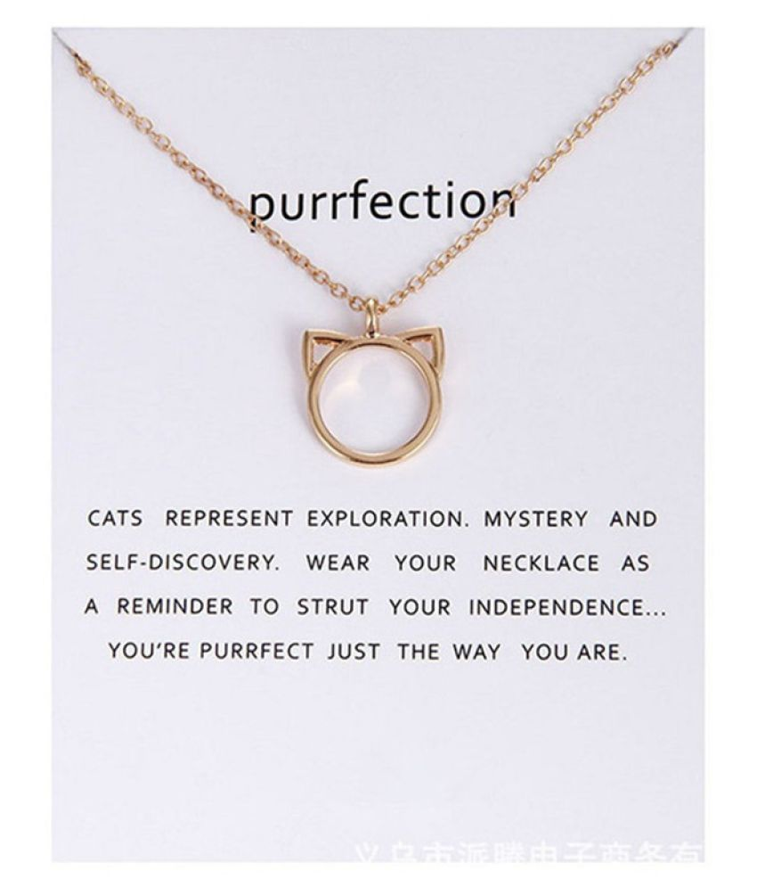 Fashion Jewelry Gold Silver Chain Hollow Cat Ears Pendant Necklace Gifts(1pc/lot )