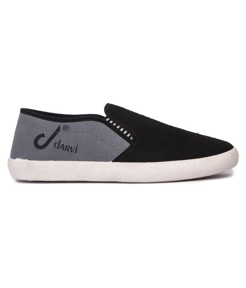 Czar Darvi Men's Canvas Black Casual Shoes buy cheap buy Mgg6ZSzkw0
