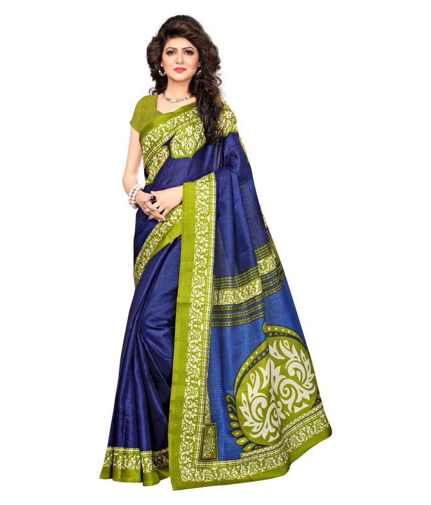 Indian Fashionista Turquoise Khadi Saree
