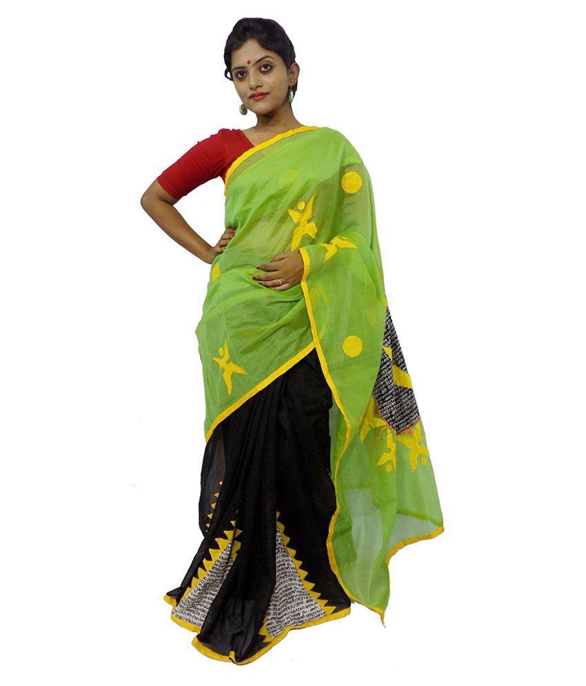 Jyotshna Sarees Multicoloured Cotton Silk Saree
