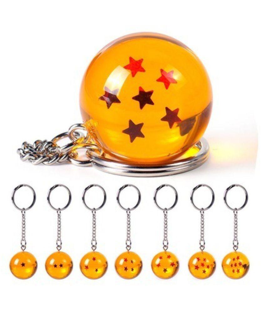 1Pc Dragon Ball Z Crystal Ball Keychain Keyring DBZ Pendant Gifts Cosplay  242ZDCP0030