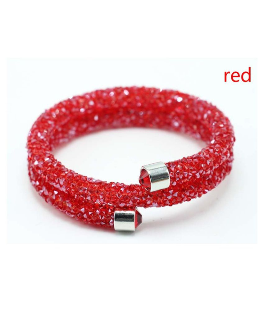 Double Crystal Bracelets Collection Two Laps Wrap Bracelet Full Pave Rhinestone Crystal Bangle for Women