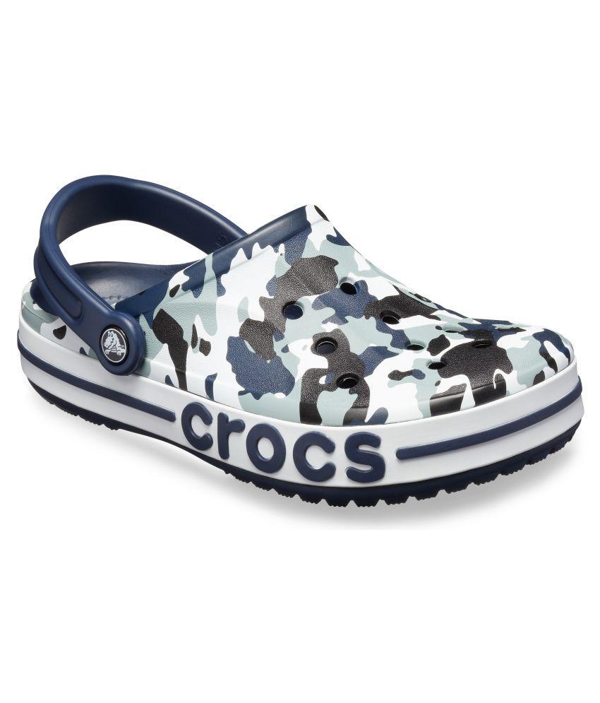 017835009b Crocs Men Bayaband Graphic Clogs Blue Sandals Price in India- Buy Crocs Men  Bayaband Graphic Clogs Blue Sandals Online at Snapdeal