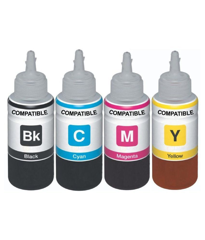 Kataria Refill Ink x 100ml Multicolor Pack of 4 Ink bottle for For Use In HP DeskJet 2131 Printer