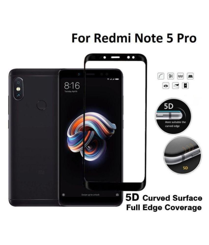 Xiaomi Redmi Note 5 Pro Tempered Glass Screen Guard By Onvay 9h Full Layar Hardness 5d