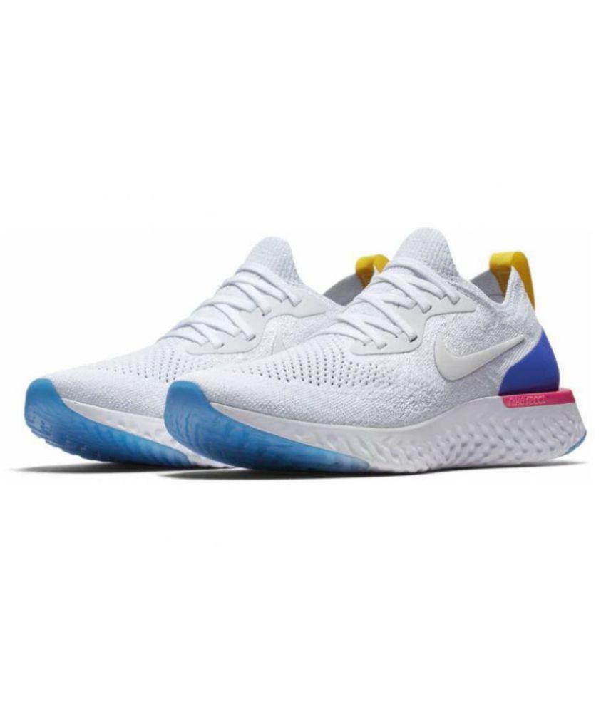 a0fd6e24f7da0 Nike EPIC REACT FLYKNIT White Running Shoes - Buy Nike EPIC REACT ...