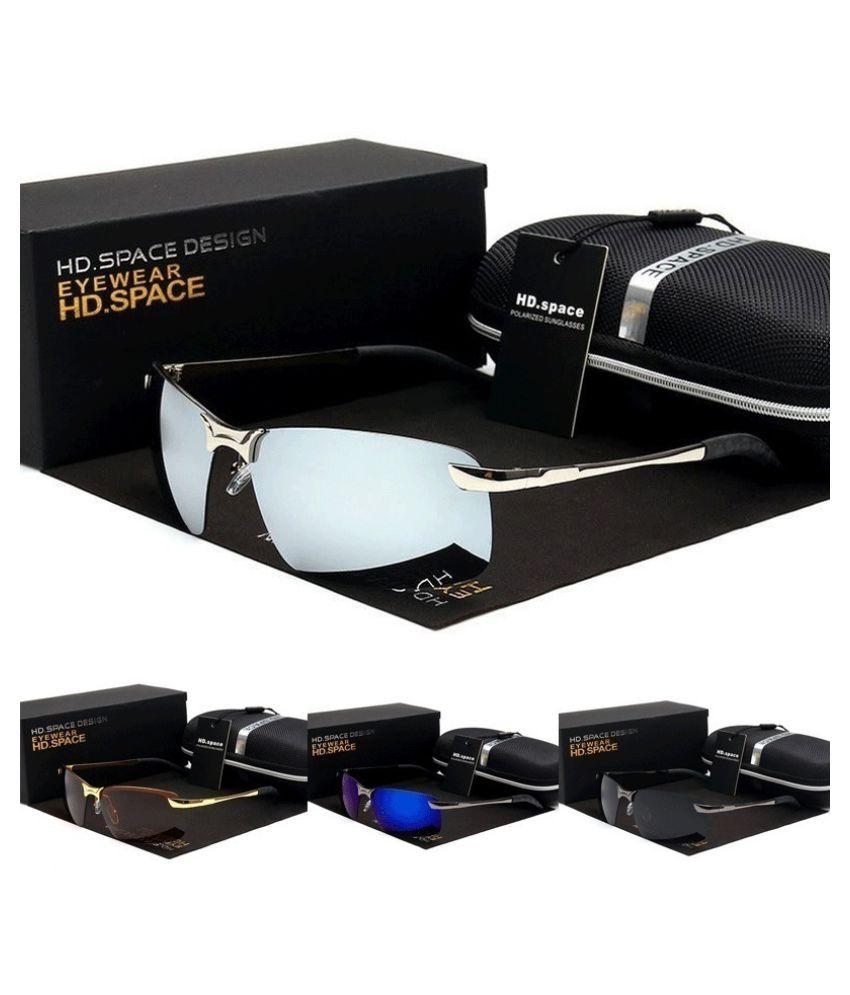 ZXG Black Aviator Sunglasses ( New Fashion Polarized UV400 Sunglasses Men's Fash )