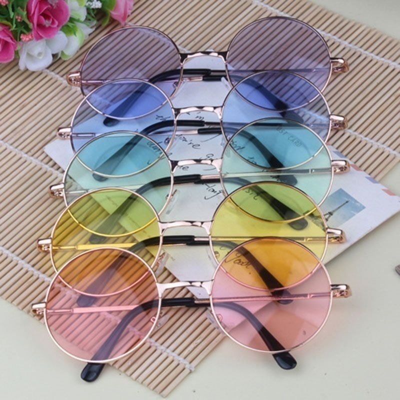 ZXG Purple Aviator Sunglasses ( Colorful Women Retro Round Glasses Lens Sunglasse )