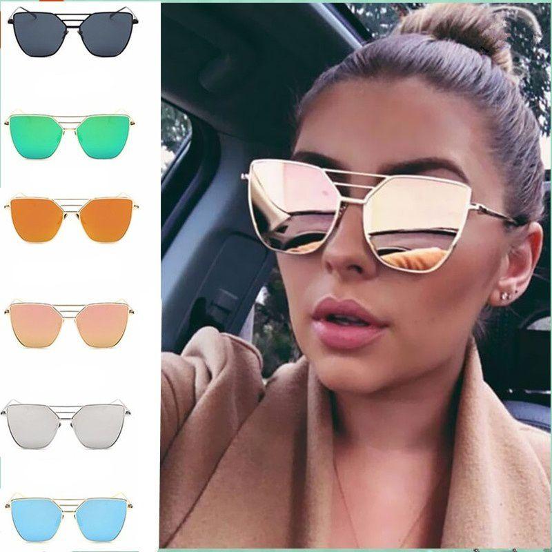 ZXG Purple Aviator Sunglasses ( New Unisex Flat Mirror Top Rose Gold Men Women Mi )