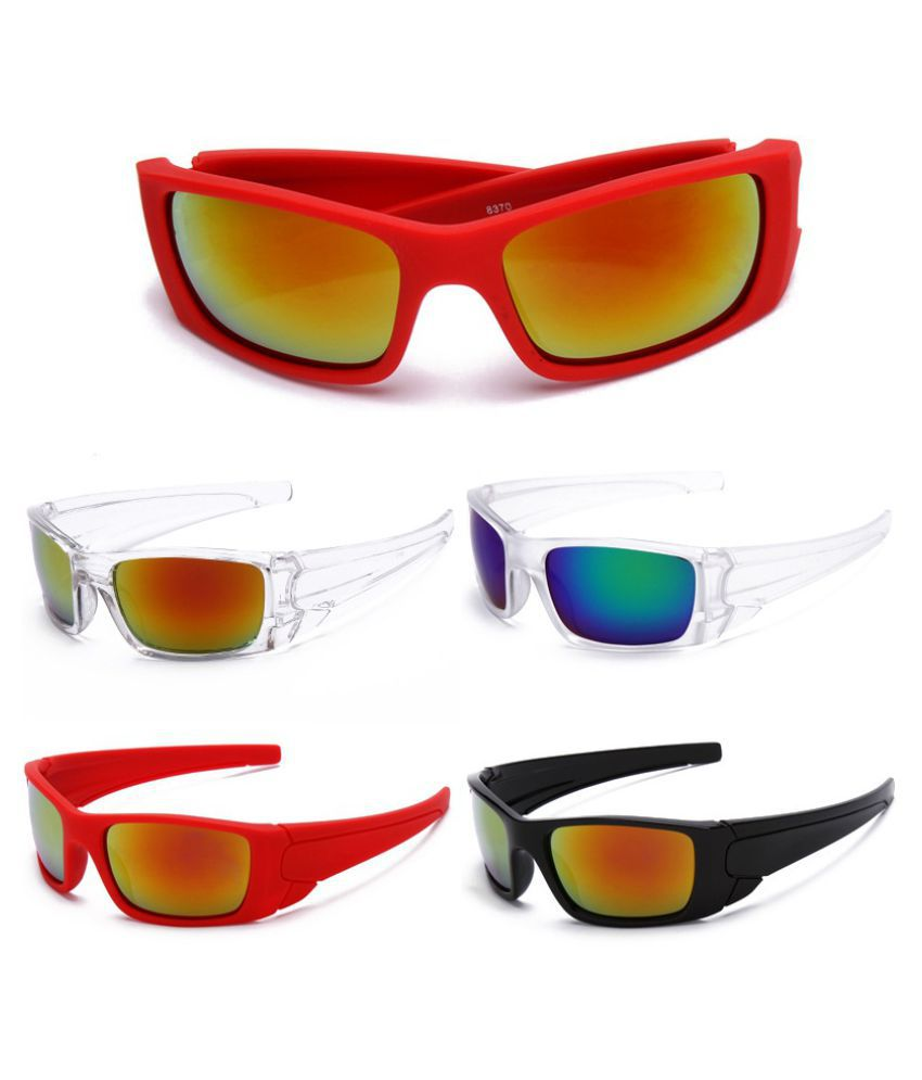 ZXG Red Aviator Sunglasses ( Cycling Glasses Bike Big Goggles Outdoor Sports B )