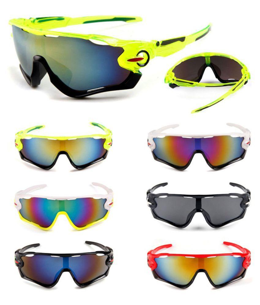 ZXG Yellow Aviator Sunglasses ( Outdoor Sport Men Women Cycling Eyewear Bike Bicy )