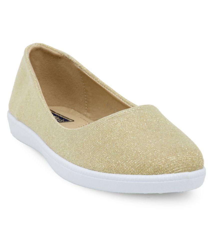 Flat n Heels Gold Casual Shoes