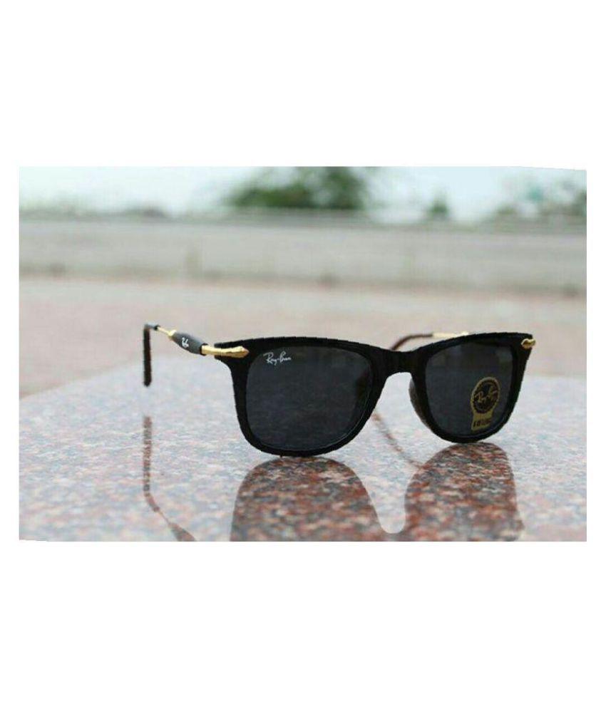 Rayban Style Sunglasses Black Aviator Sunglasses ( BLK2148 )