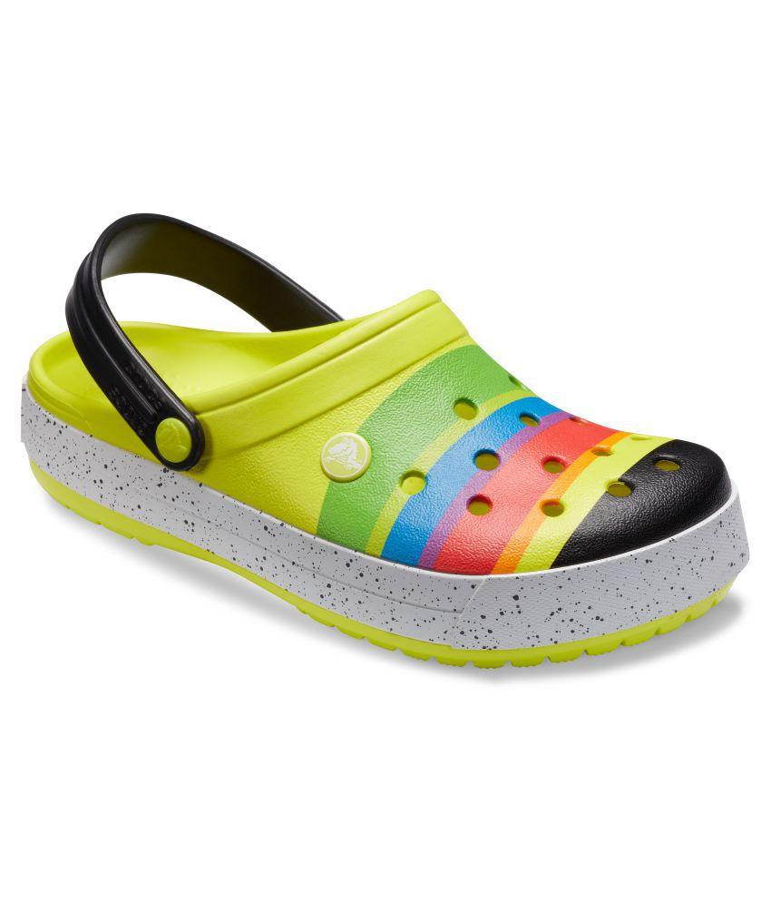 2f9a69f8254 Crocs Men Crocband Color-Burst Clogs Yellow Sandals Price in India- Buy  Crocs Men Crocband Color-Burst Clogs Yellow Sandals Online at Snapdeal