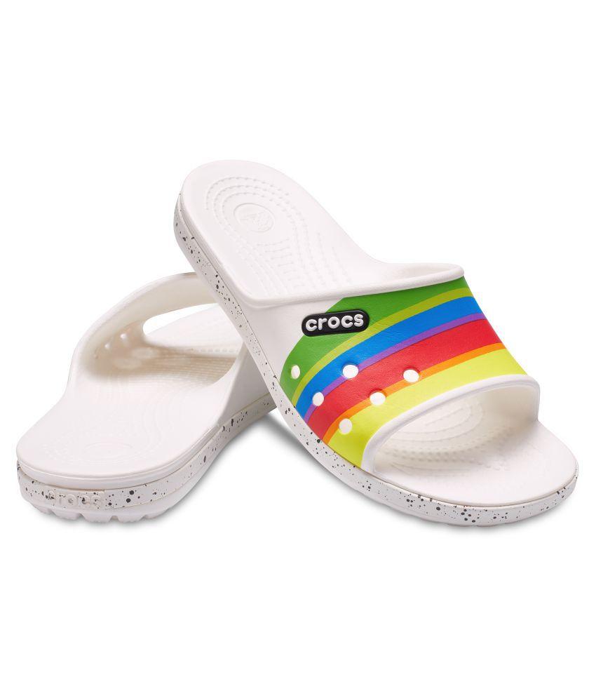 b27304528333 Crocs Men Crocband II Graphic Slide White Sandals Price in India ...