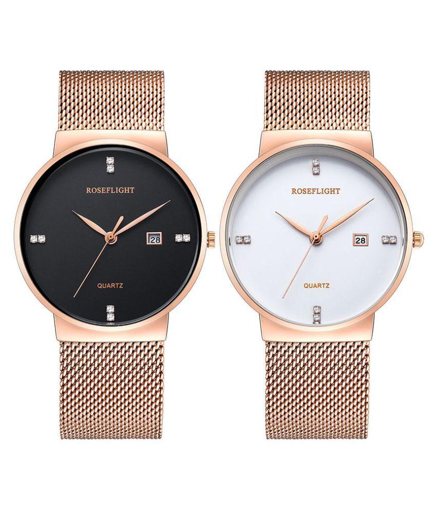 b68fadd35 ... Men Women Waterproof Business Quartz Watches Price in India  Buy  Fashion Luxury ROSEFLIGHT Brand Men Women Waterproof Business Quartz  Watches Online at ...
