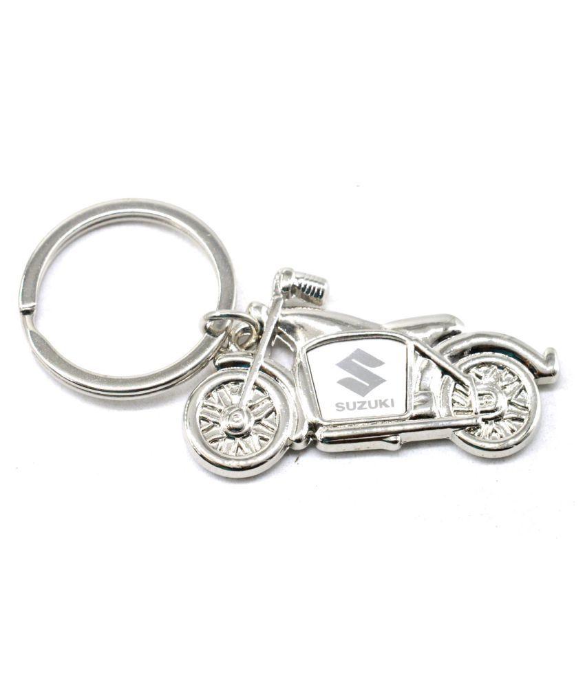 Faynci High Quality Suzuki Bike Metal Locking Key chain for Biker/Fashion Lover/Friendship Gift