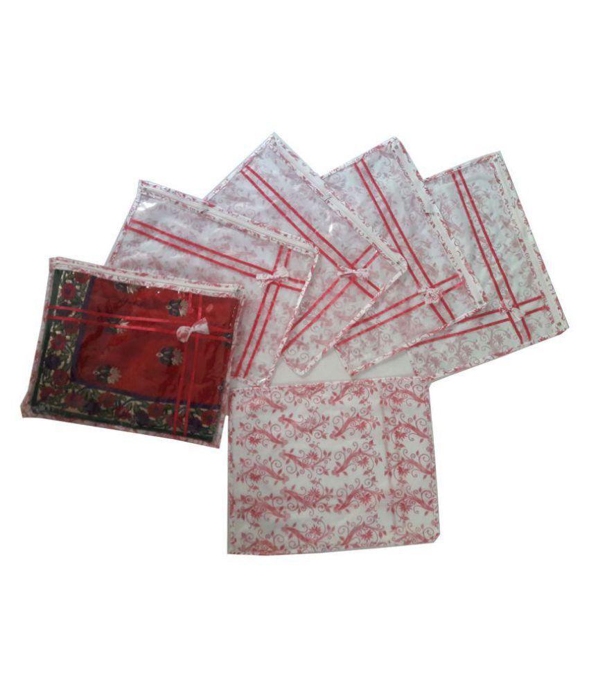 krishna e- kart Pink Saree Covers - 6 Pcs