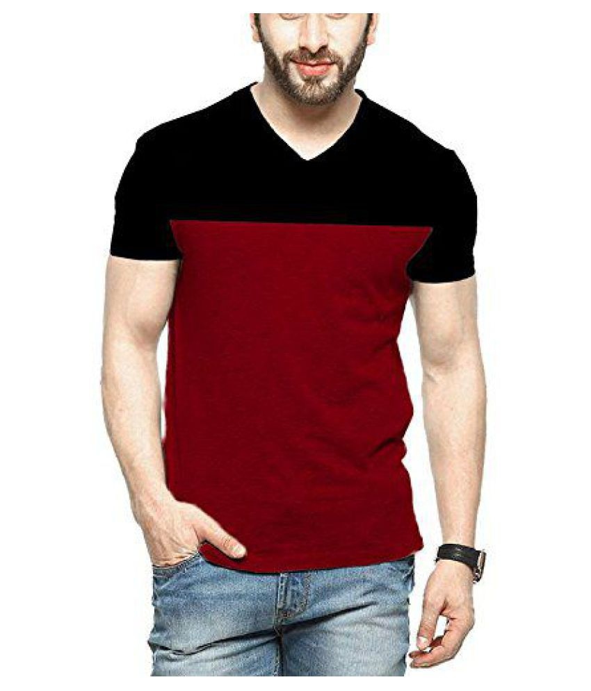 c01b1551169 Veirdo Maroon V-Neck T-Shirt - Buy Veirdo Maroon V-Neck T-Shirt Online at Low  Price - Snapdeal.com