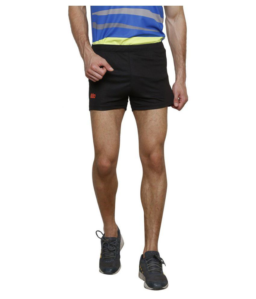 DIDA Black Polyester Fitness Shorts