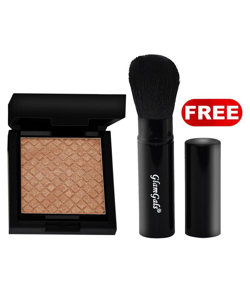 GlamGals Illuminator+ Pocket Brush Free Pressed Powder Beige 12 gm