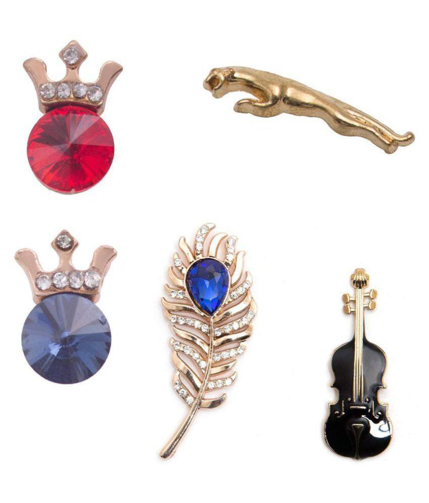 Combo of Men's lapel Pin (5 lapel pin/brooches)