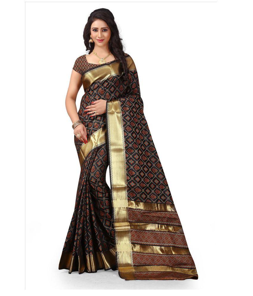 Silkshow Brown Silk Blends Saree