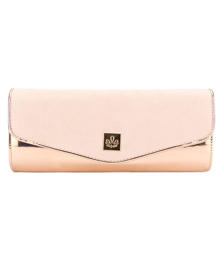 AHR Gold Faux Leather Sling Bag