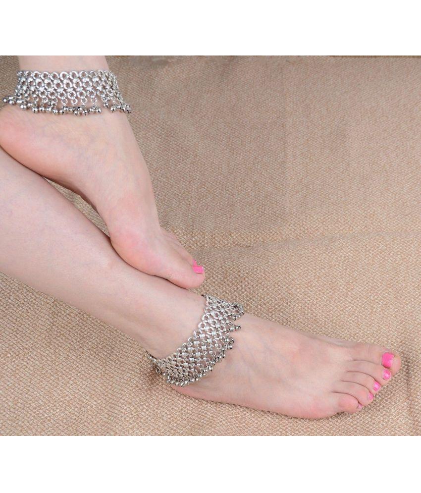 Women Sexy Jewelry Tassel Bell Silver Anklet Foot Chain Ankle Bracelets