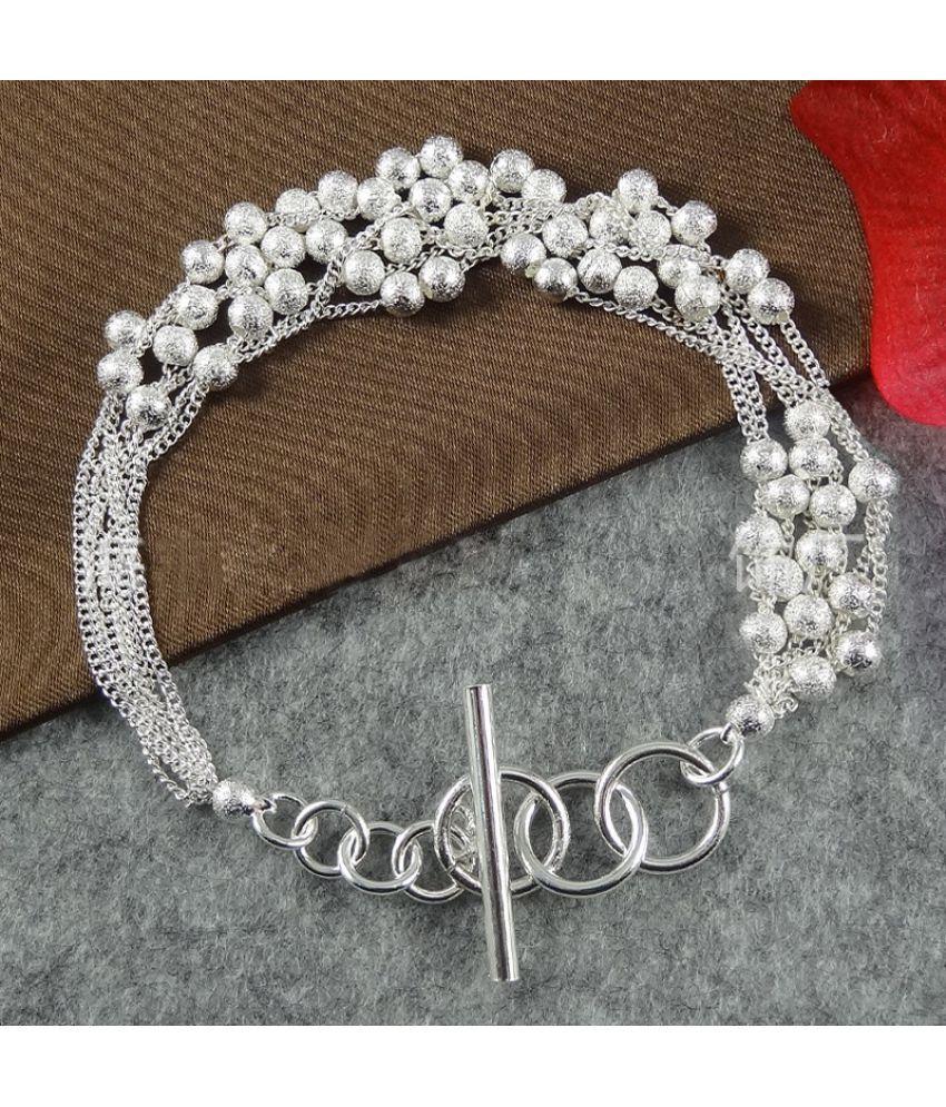 Women Silver Fashion Jewelry 925 Sterling silver bangle bracelet Xmas gift New